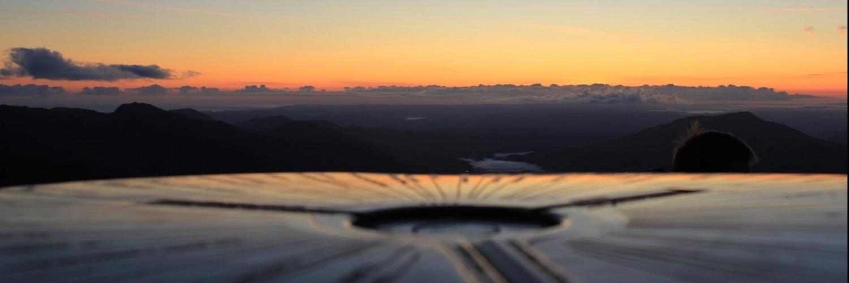 Snowdon summit at sunrise