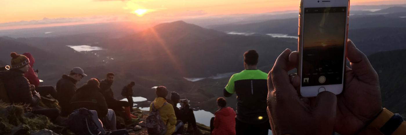 Sunrise pictures on Snowdon summit