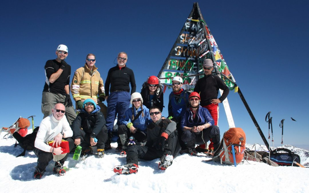 Winter has nearly arrived on Toubkal