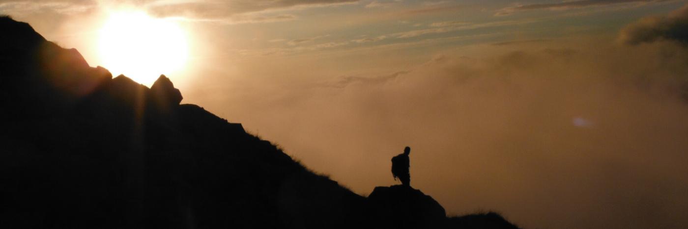 Sunset on the 3 Peaks Challenge with Adventurous Ewe