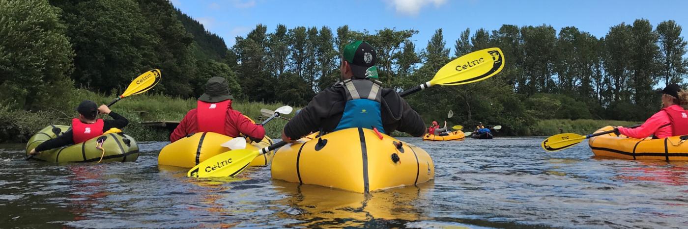 Trek and Kayak Snowdonia Packrafting Adventure