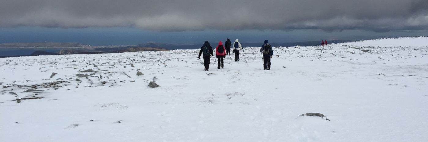 Winter skill walking in Snowdonia